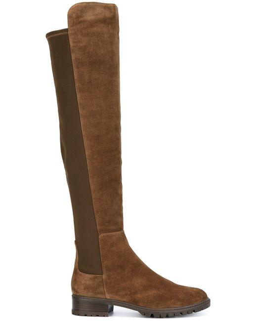 Stuart Weitzman | Brown Schizo Suede Knee-High Boots | Lyst