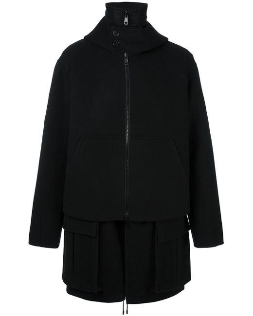 Juun.J | Black Double Breasted Coat for Men | Lyst