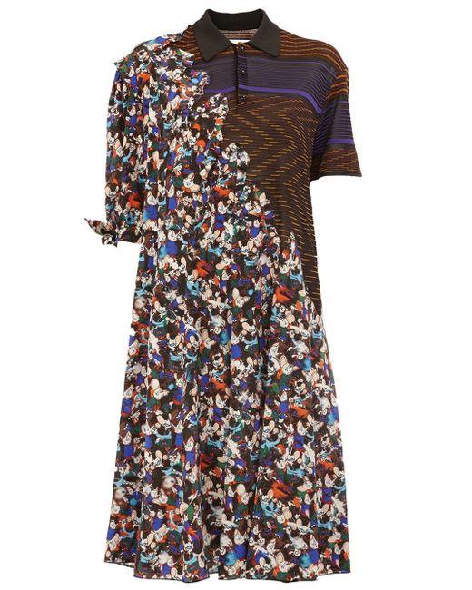 Maison Margiela | White - Contrast Print Shirt Dress - Women - Silk/viscose - 40 | Lyst