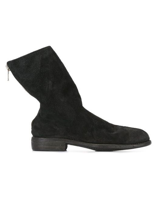 Guidi | Black Reverse Back Zip Mid Boots for Men | Lyst