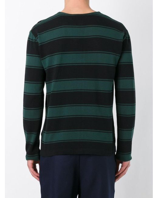 Ami Rugby Stripe Sweater In Black For Men