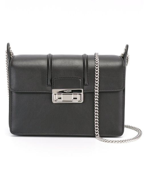 Lanvin   Black Jiji Small Leather Shoulder Bag   Lyst