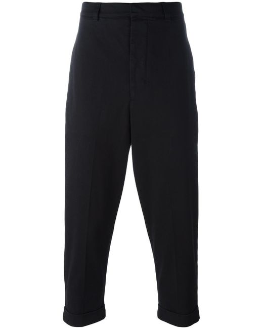 AMI | Black Oversize Carrot-fit Trousers for Men | Lyst