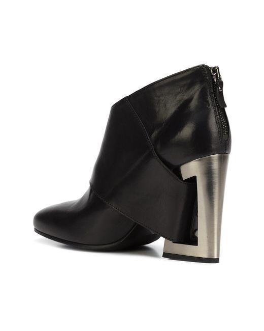 vic mati open back heel boots in black lyst. Black Bedroom Furniture Sets. Home Design Ideas