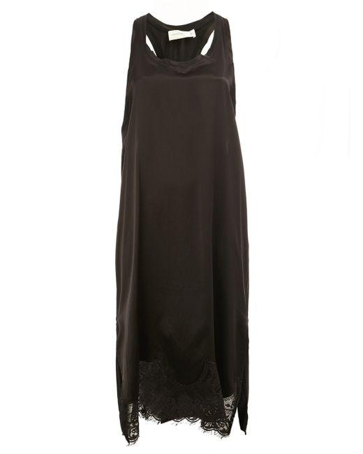 Faith Connexion | Black Lace Hem Sleeveless Dress | Lyst