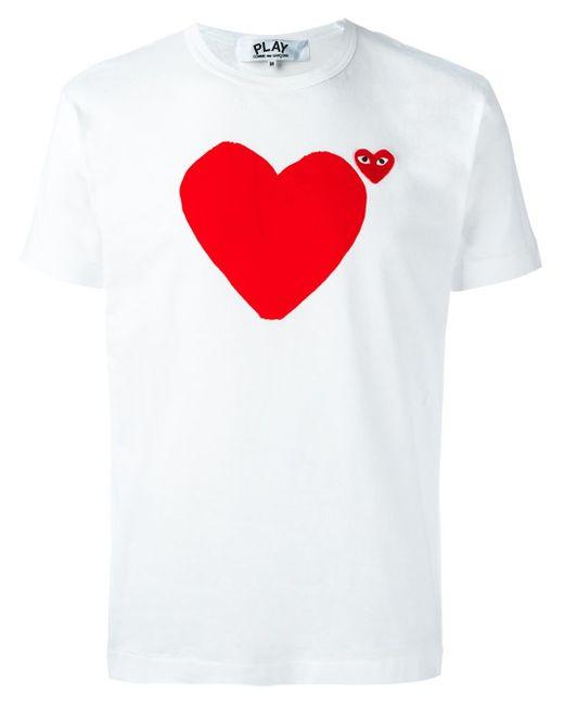 Play Comme des Garçons | Black Logo Print T-shirt for Men | Lyst