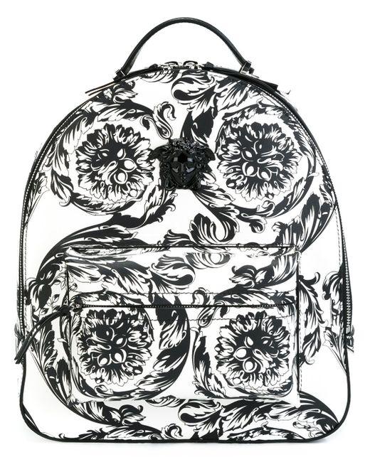 Versace | White 'baroque Medusa' Backpack | Lyst