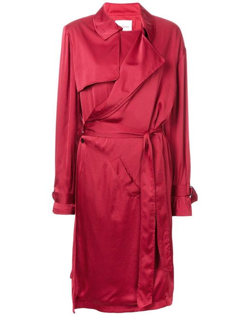 A.F.Vandevorst   Red Trench Style Dress   Lyst