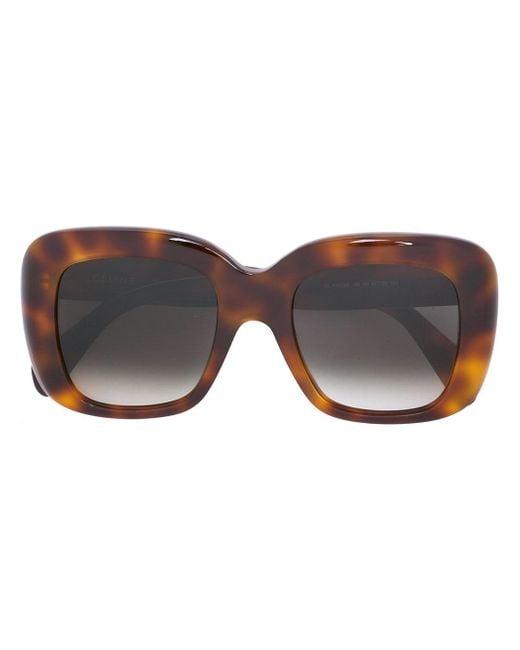 Céline | Gray Sacha Square Plastic Sunglasses | Lyst