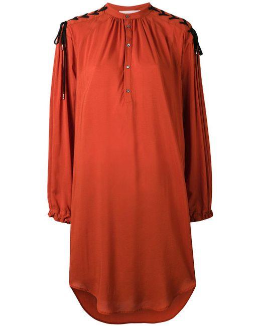 A.F.Vandevorst | Orange Flared Dress | Lyst