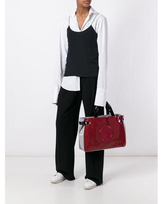 Armani Jeans   Red Medium 'grigi' Tote   Lyst