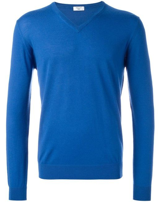 Fashion Clinic Timeless | Blue V-neck Jumper for Men | Lyst