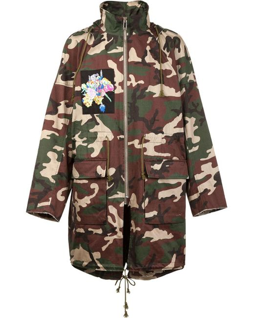 Christian Dada | Green X Nobuyoshi Araki Patch Camo Coat for Men | Lyst