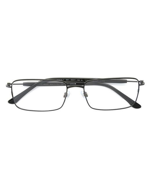 Giorgio Armani Glasses Black Frame : Giorgio armani Square Frame Glasses in Black Lyst