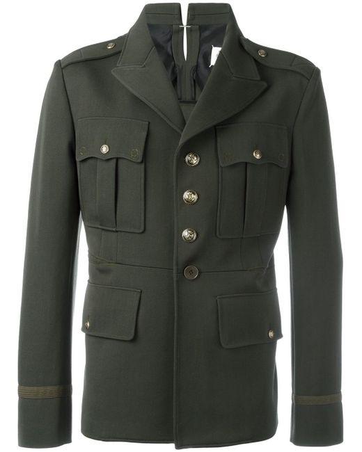 Maison Margiela Military Inspired Jacket In Green For Men