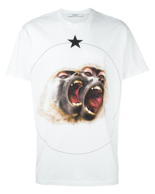 Givenchy monkey brothers printed t shirt in white for men Givenchy t shirt price