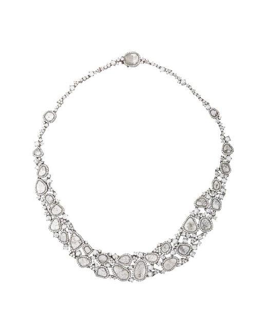 Saqqara | Metallic 18kt White Gold And Diamond Necklace | Lyst