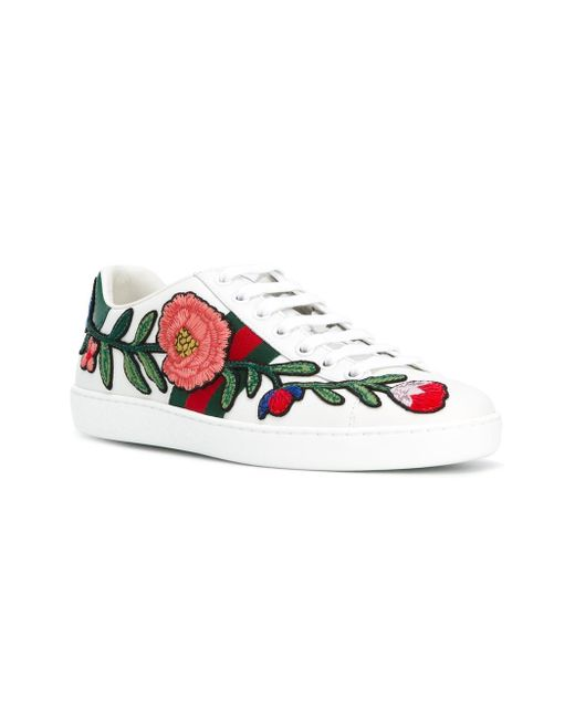 d7aa7d2444c Gucci Unisex Ace Embroidered Sneaker 505328 White - Ontario Active ...