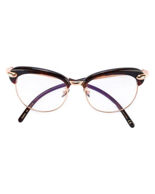 Pomellato | Black Oversized Frame Glasses | Lyst