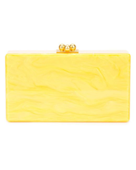 Edie Parker | Yellow Marbled Effect Clutch | Lyst