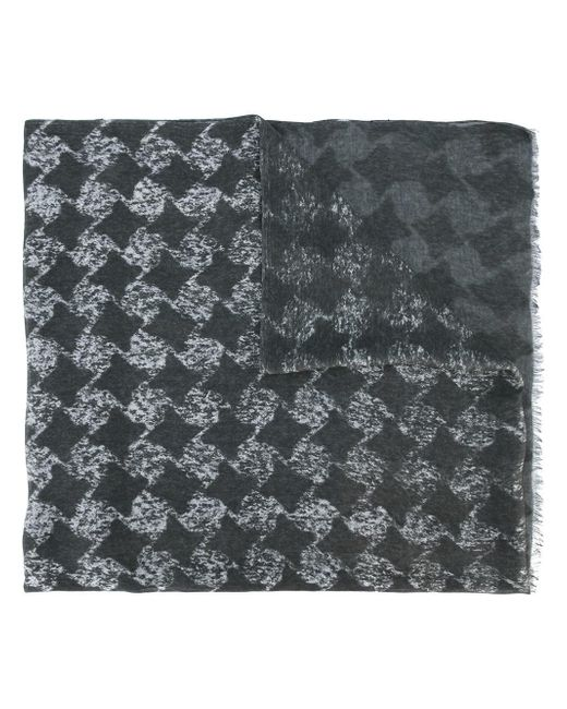John Varvatos   Gray Geometric Pattern Scarf for Men   Lyst