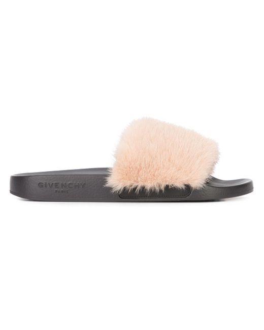 Givenchy | Pink Mink Fur Sandal Slide | Lyst