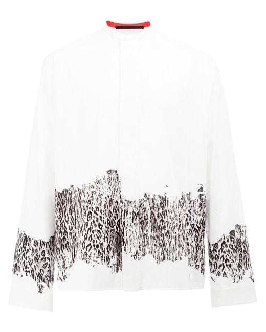 Haider Ackermann | White Leopard Print Shirt for Men | Lyst