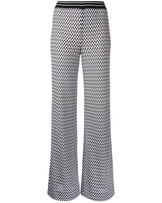 Missoni | White Zig-zag Flared Trousers | Lyst