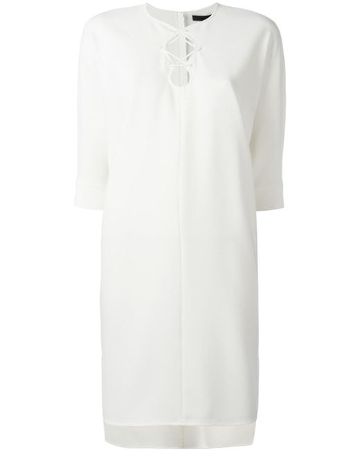 Alexander Wang | White Lace-up Dress | Lyst