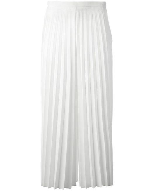 Blugirl Blumarine | White Pleated Cropped Trousers | Lyst