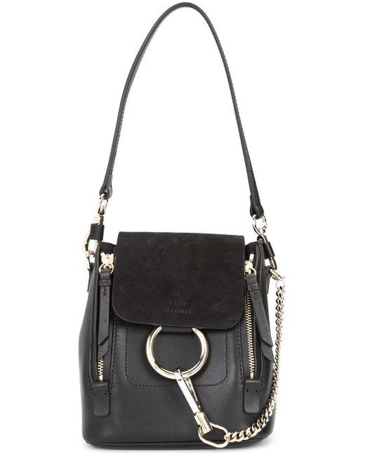 chlo mini faye backpack in black lyst. Black Bedroom Furniture Sets. Home Design Ideas