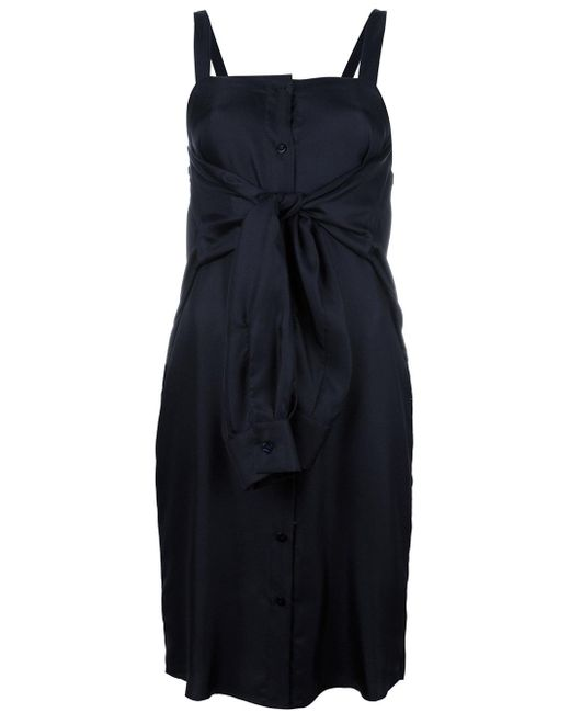 Maison Margiela | Blue Tie Front Fitted Dress | Lyst
