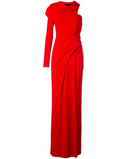 Alexander Wang | Red Draped One Shoulder Gown | Lyst