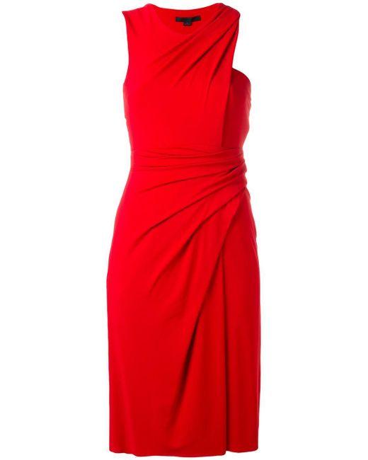 Alexander Wang | Red Wrap Effect Draped Dress | Lyst