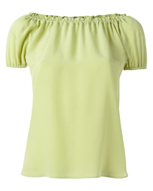 Etro | Green Pleated Trim Blouse | Lyst