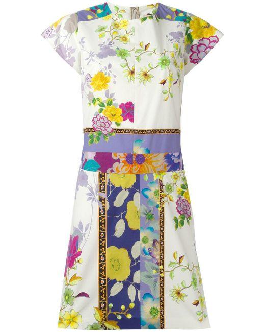Etro   Multicolor Floral Print Dress   Lyst