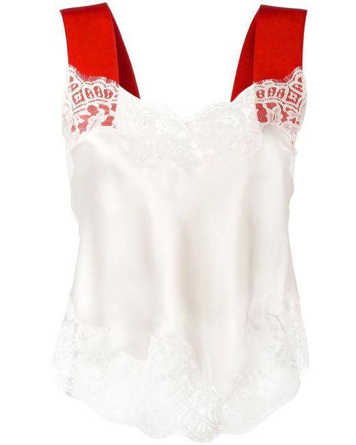Givenchy | Multicolor Contrast Strap Lace Camisole | Lyst