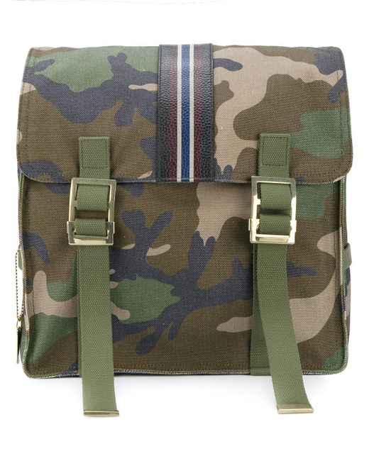 Valentino | Green Garavani Camouflage Backpack for Men | Lyst
