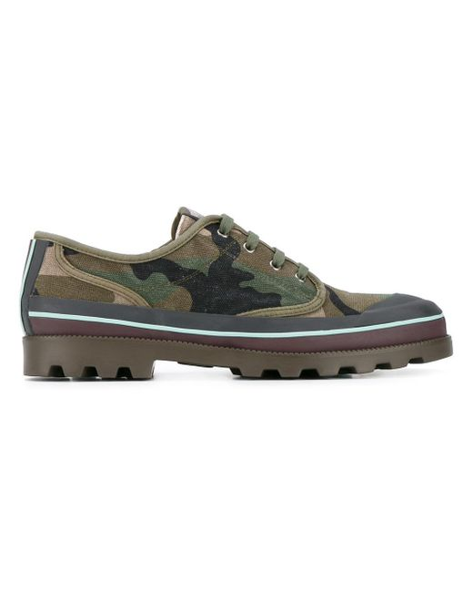 Valentino | Green Garavani Camouflage Sneakers for Men | Lyst
