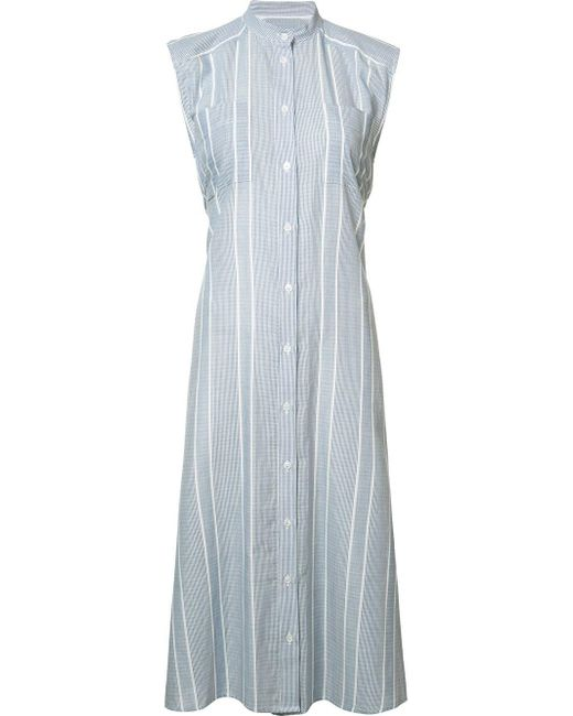 Sea | Blue Striped Buttoned Dress | Lyst