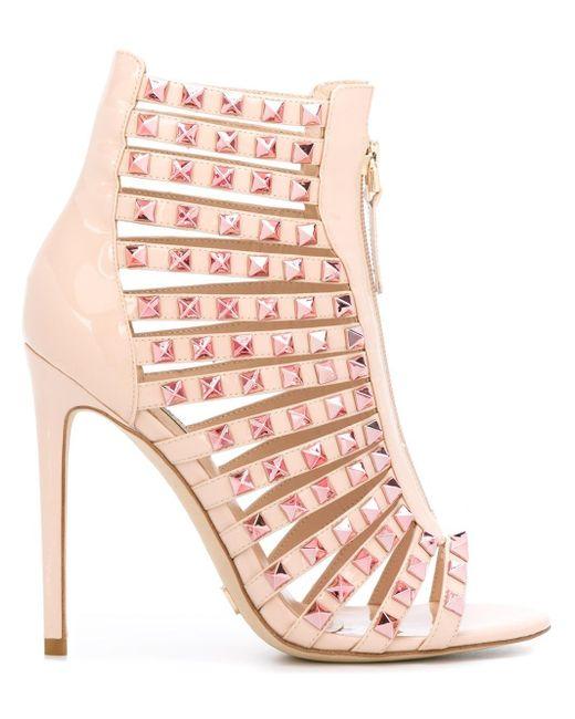 Gianni Renzi   Pink Studded Sandals   Lyst
