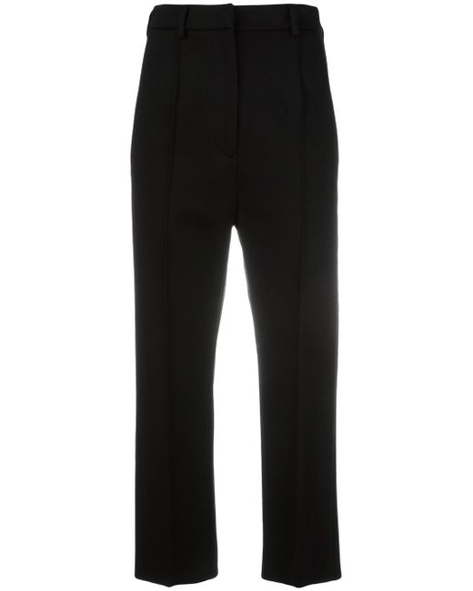 MM6 by Maison Martin Margiela | Black Cropped Trousers | Lyst