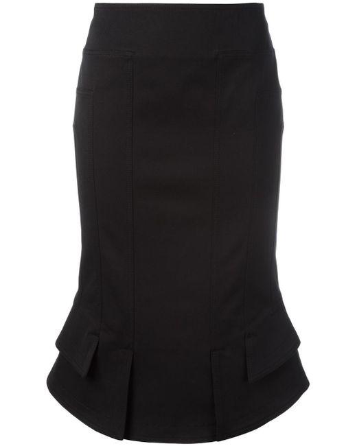Tom Ford | Black Flared Hem Fitted Skirt | Lyst