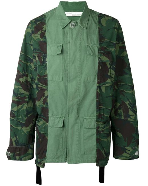 Off-White c/o Virgil Abloh | Green Camouflage Print Cargo Jacket for Men | Lyst