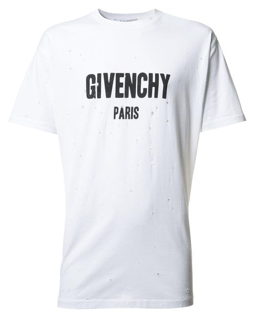 givenchy branded t shirt in white for men lyst. Black Bedroom Furniture Sets. Home Design Ideas