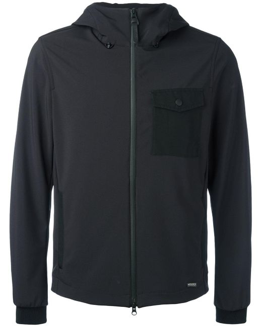 Woolrich | Black Hooded Jacket for Men | Lyst