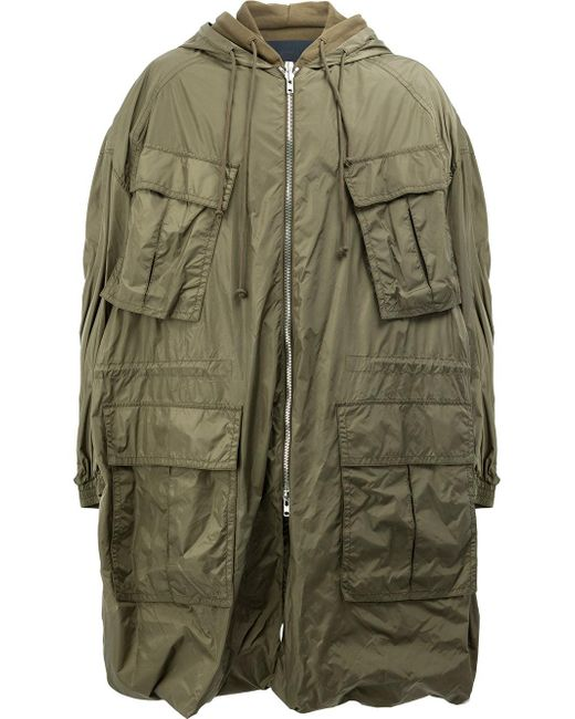 Juun.J | Green Multiple Pockets Hooded Coat for Men | Lyst