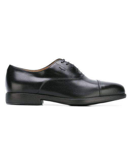 Ferragamo | Black Lace-up Shoes for Men | Lyst