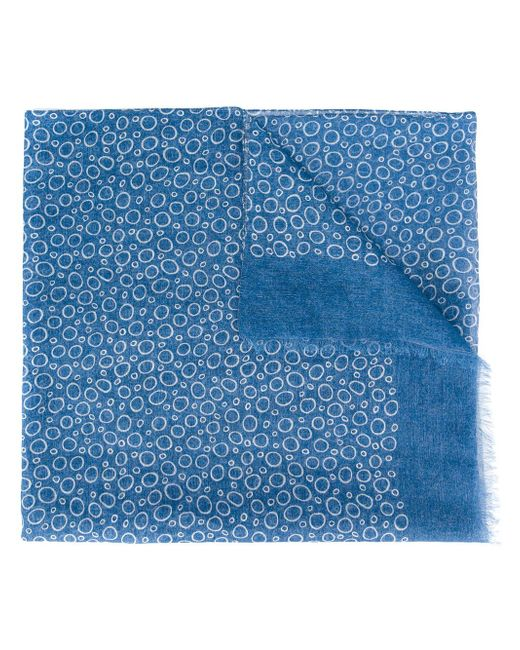Canali   Blue Circle Pattern Scarf for Men   Lyst
