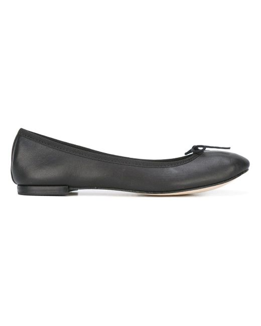 Repetto | Black Cendrillon Leather Ballerinas | Lyst